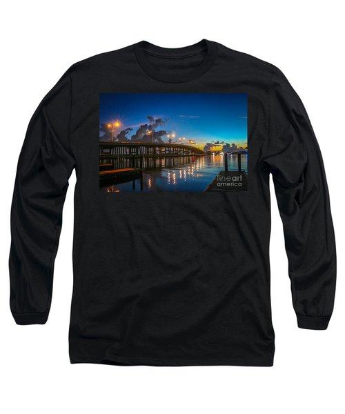 Old Palm City Bridge Long Sleeve T-Shirt by Tom Claud