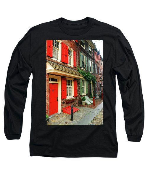 Old Philly Long Sleeve T-Shirt by James Kirkikis