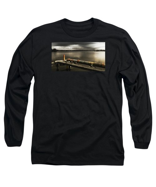 Long Sleeve T-Shirt featuring the photograph Old Pipe Line 01 by Kevin Chippindall
