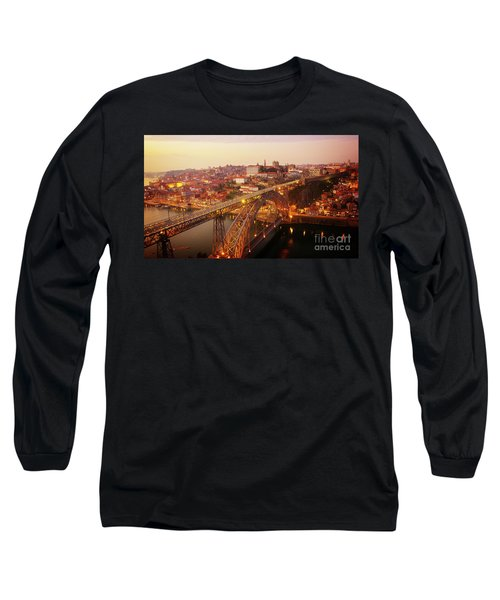 old Porto at  Pink Sunset, Portugal Long Sleeve T-Shirt