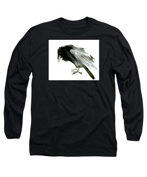 Old Raven Long Sleeve T-Shirt by Suren Nersisyan