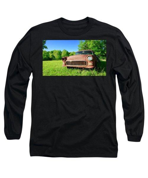 Old Rusty Car Long Sleeve T-Shirt