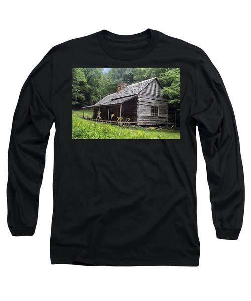 Old Settlers Cabin Smoky Mountains National Park Long Sleeve T-Shirt