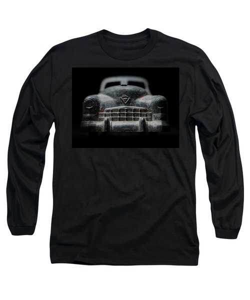 Old Silver Cadillac Toy Car With Specks Of Red Paint Long Sleeve T-Shirt