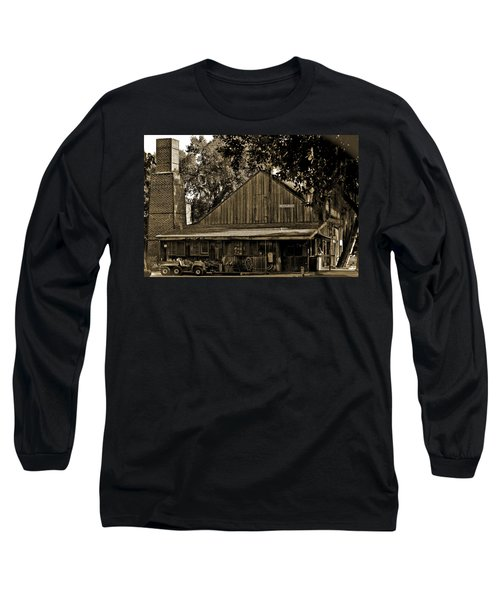 Long Sleeve T-Shirt featuring the photograph Old Spanish Sugar Mill Sepia by DigiArt Diaries by Vicky B Fuller