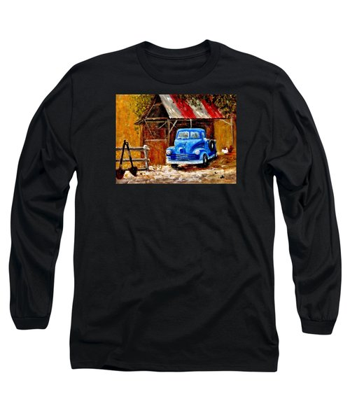 Long Sleeve T-Shirt featuring the painting Old Timers..  by Cristina Mihailescu