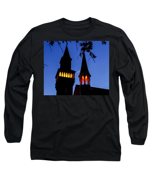 Old Town Hall Crescent Moon Long Sleeve T-Shirt