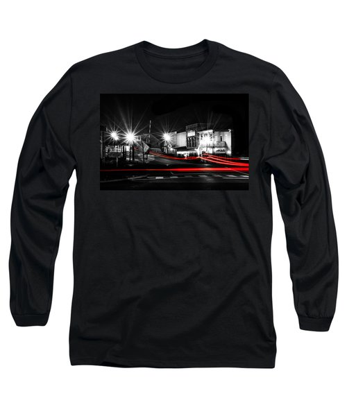 Old Town Helena At Night Long Sleeve T-Shirt by Shelby  Young