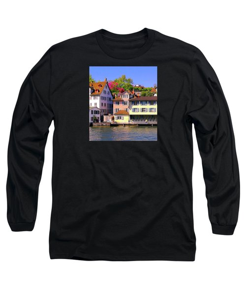 Old Town Zurich, Switzerland Long Sleeve T-Shirt