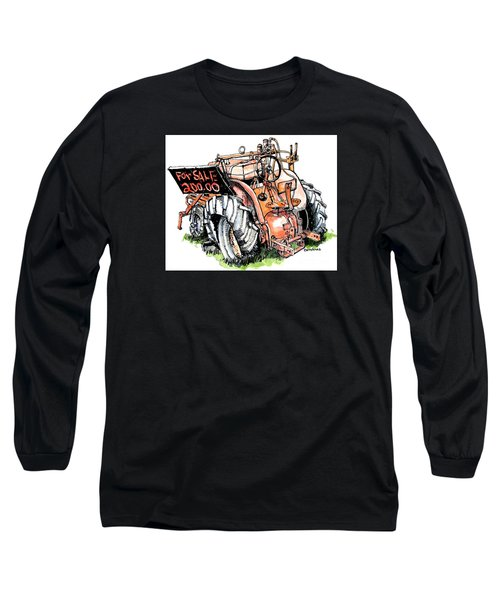 Long Sleeve T-Shirt featuring the painting Old Tractor by Terry Banderas