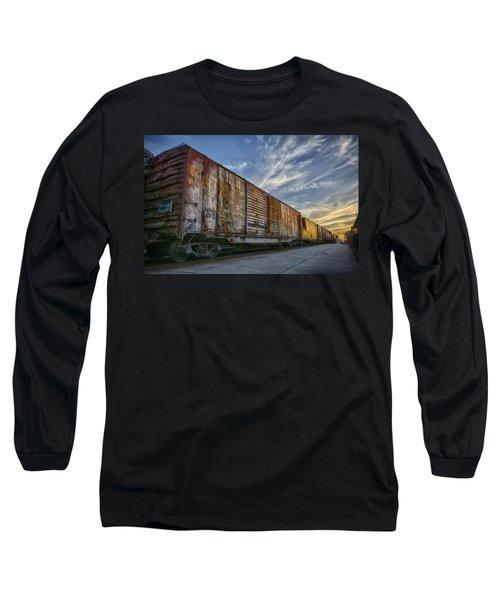 Old Train - Galveston, Tx Long Sleeve T-Shirt by Kathy Adams Clark