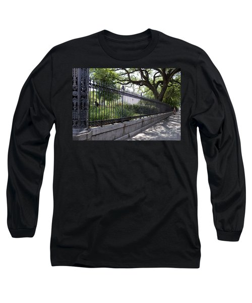 Old Tree And Ornate Fence Long Sleeve T-Shirt