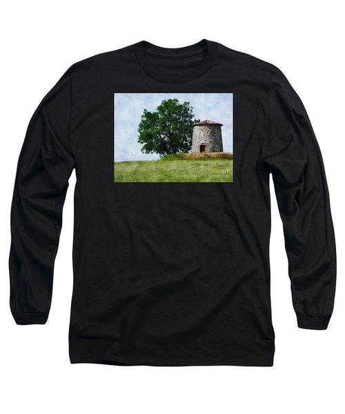 Long Sleeve T-Shirt featuring the photograph Old Windmill by Jean Bernard Roussilhe