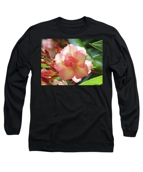 Long Sleeve T-Shirt featuring the photograph Oleander Mrs. Roeding 1 by Wilhelm Hufnagl