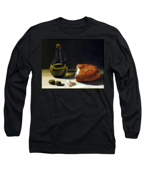 Olive Oil And Bread Long Sleeve T-Shirt