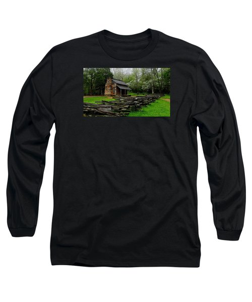 Oliver's Cabin Among The Dogwood Of The Great Smoky Mountains National Park Long Sleeve T-Shirt