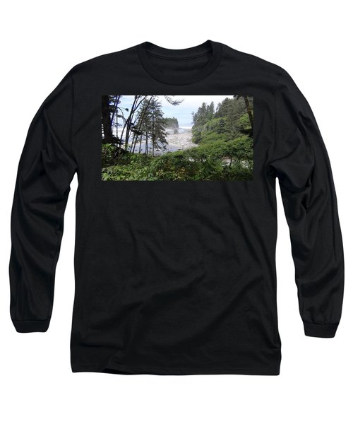 Long Sleeve T-Shirt featuring the photograph Olympic National Park Beach by Tony Mathews