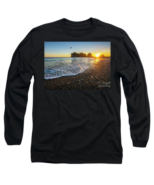 Long Sleeve T-Shirt featuring the photograph Olympic Peninsula Sunset by Martin Konopacki