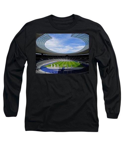 Olympic Stadium Berlin Long Sleeve T-Shirt by Juergen Weiss