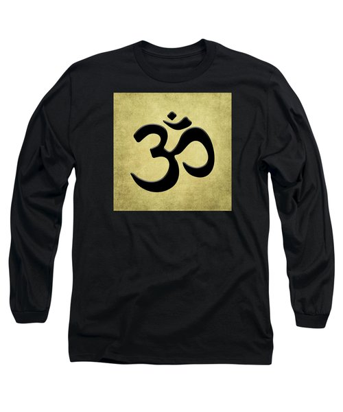 Om Gold Long Sleeve T-Shirt by Kandy Hurley