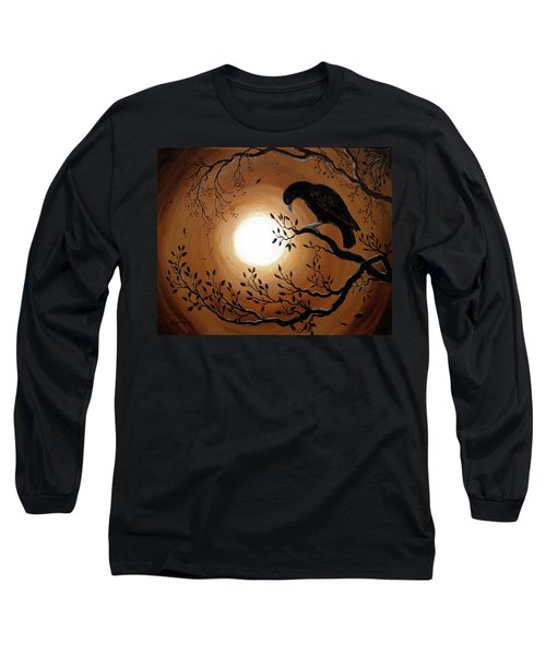Ominous Bird Of Yore Long Sleeve T-Shirt by Laura Iverson