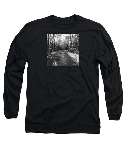 On A Drizzly Day Long Sleeve T-Shirt by Rebecca Davis