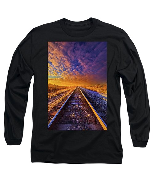 Long Sleeve T-Shirt featuring the photograph On A Train Bound For Nowhere by Phil Koch