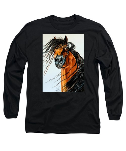 On A Windy Day-dream Horse Series #2003 Long Sleeve T-Shirt
