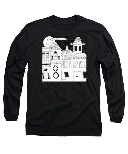 Long Sleeve T-Shirt featuring the painting On Duty by Lou Belcher
