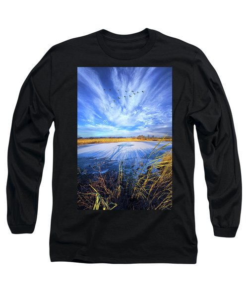 Long Sleeve T-Shirt featuring the photograph On Frozen Pond by Phil Koch