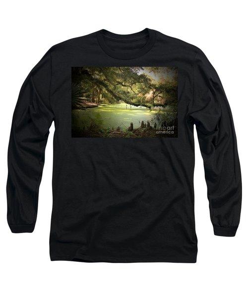 On Swamp's Edge Long Sleeve T-Shirt by Scott Pellegrin
