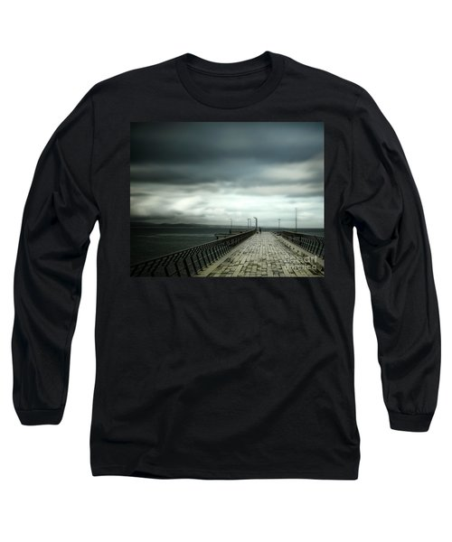 Long Sleeve T-Shirt featuring the photograph On The Pier by Perry Webster