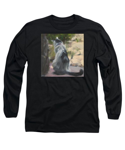 On The Threshold Long Sleeve T-Shirt by Connie Schaertl