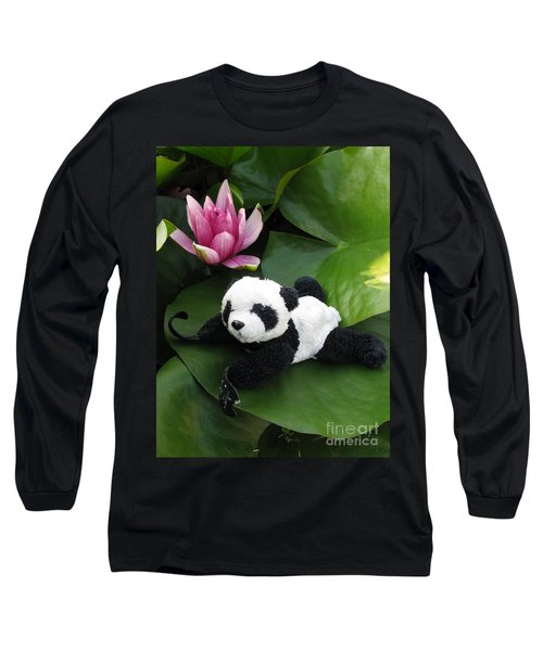 Long Sleeve T-Shirt featuring the photograph On The Waterlily by Ausra Huntington nee Paulauskaite