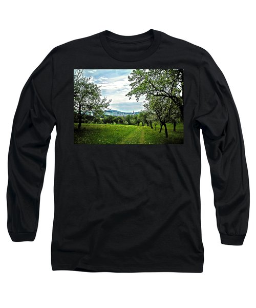 On The Way To Gramastetten ... Long Sleeve T-Shirt by Juergen Weiss