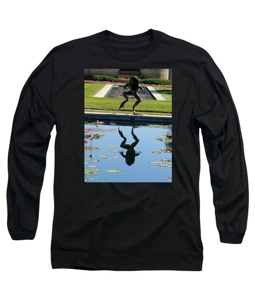One Giant Leap Long Sleeve T-Shirt by Pamela Critchlow