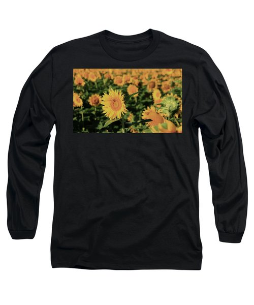 Long Sleeve T-Shirt featuring the photograph One In A Million Sunflowers by Chris Berry