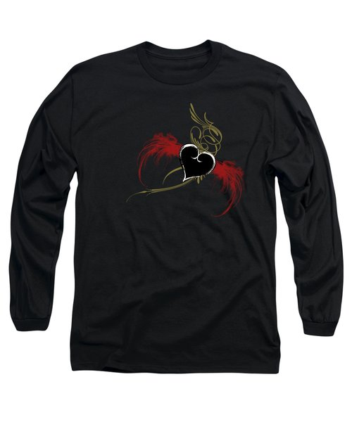One Love, One Heart Long Sleeve T-Shirt by Linda Lees