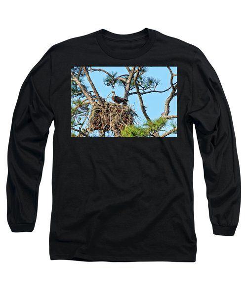 Long Sleeve T-Shirt featuring the photograph One More Twig by Deborah Benoit
