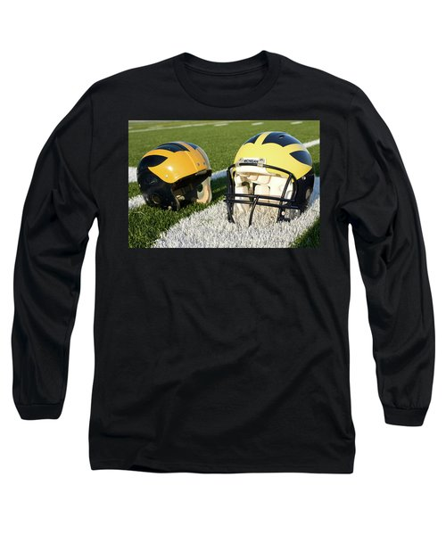 One Old, One New Wolverine Helmets On The Field Long Sleeve T-Shirt
