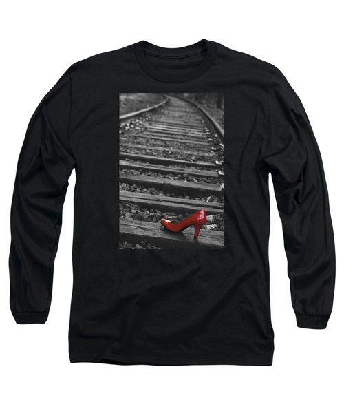 Long Sleeve T-Shirt featuring the photograph One Red Shoe by Patrice Zinck