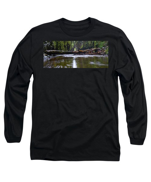 Long Sleeve T-Shirt featuring the photograph Oneonta Pano by Jonathan Davison