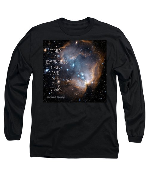 Long Sleeve T-Shirt featuring the digital art Only In Darkness by Lora Serra
