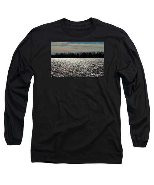 Long Sleeve T-Shirt featuring the photograph Ontario Winter Reflections by Valentino Visentini