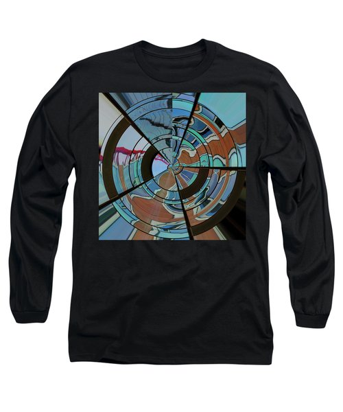 Long Sleeve T-Shirt featuring the photograph Op Art Windows Orb by Marianne Campolongo