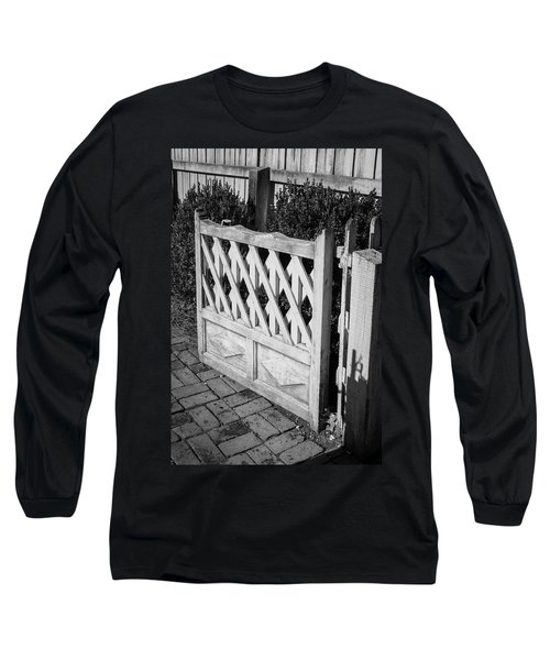 Open Garden Gate B W Long Sleeve T-Shirt
