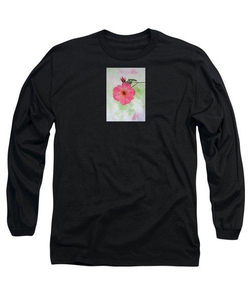 Open Rose Long Sleeve T-Shirt