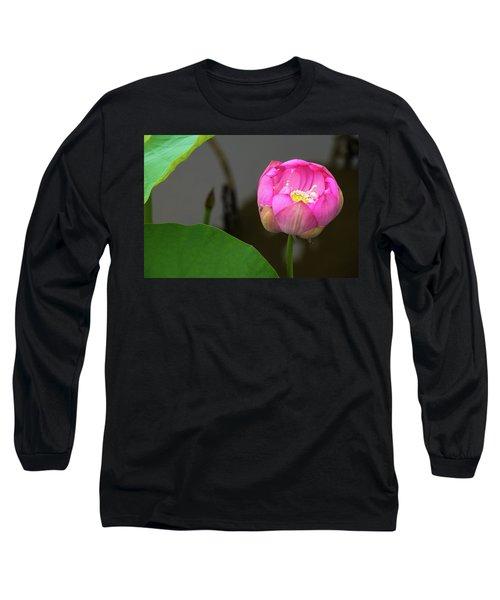 Opening Lotus Lily Long Sleeve T-Shirt