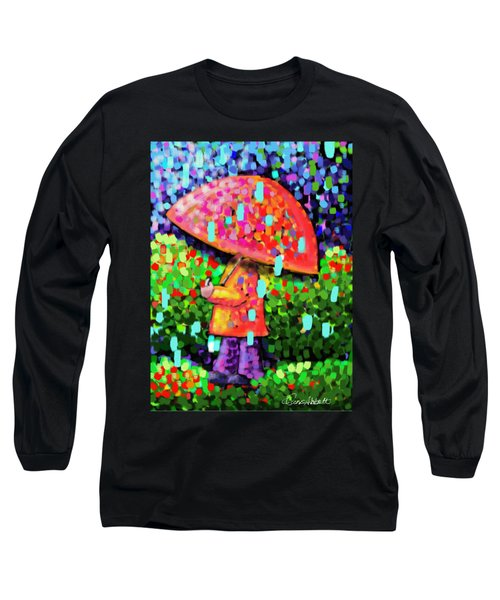 Rainy Day Stroll Long Sleeve T-Shirt by Dani Abbott