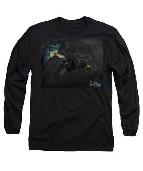 Oracular Inquiry - Ecological Footprint - Drilling Permits - Crude Oil Offshore Energy - Das Orakel Long Sleeve T-Shirt